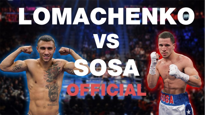 Poster Lomachenko vs Sosa