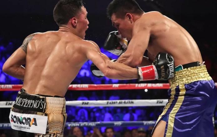 Oscar Valdez musste in der 4. Runde erstmals in seiner Karriere zu Boden, doch er stand wieder auf und gewann den Kampf doch noch klar und einstimmig nach Punkten