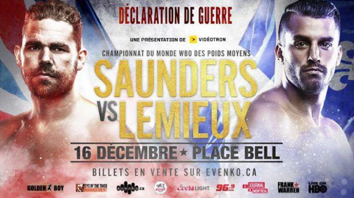 Saunders-Lemieux Fight-Poster