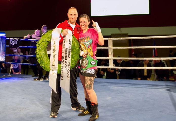 Trainer Torsten Müller und Sandra Atanassow / Foto: Matthias Fäller