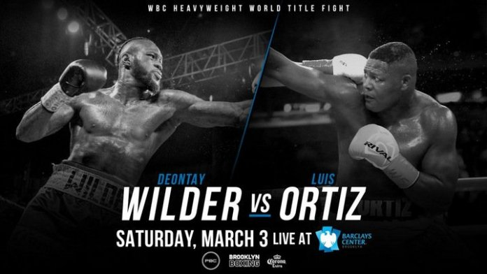 Wilder vs Ortiz Poster