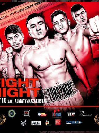 MTK Fight Night Kazakhstan Poster