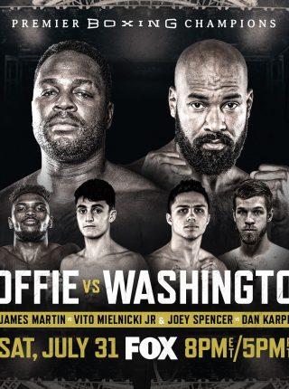 "Michael Coffie vs Gerald ""El Gallo Negro"" Washington Fight-Poster"
