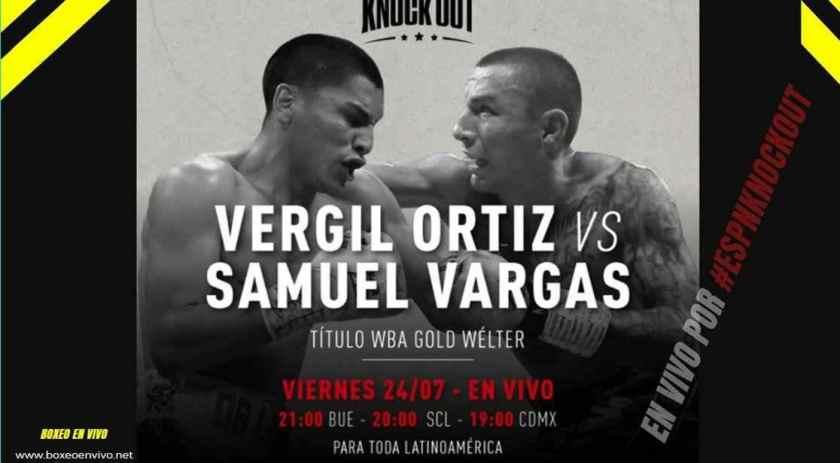 Vergil Ortiz Jr vs Samuel Vargas en VIVO por ESPN