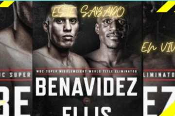 David Benavidez vs Ronald Ellis en directo