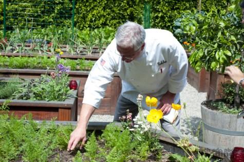 Chef Slay in his Park Ave Restaurant garden