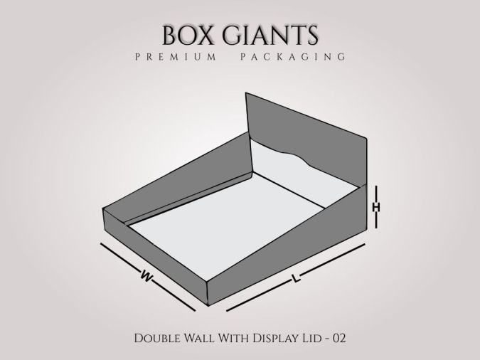 Double Wall With Display Lid Boxes