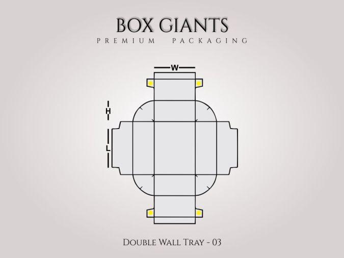 Custom Printed Double Wall Tray