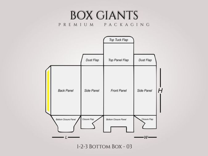Custom Printed 1-2-3 Bottom Boxes