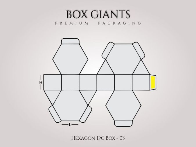 Custom Printed Hexagon 1 PC Boxes