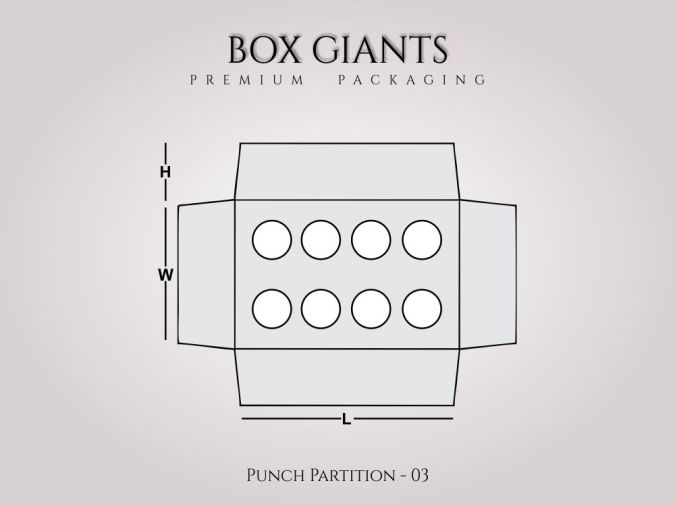 Custom Printed Punch Partition