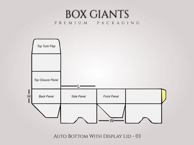 Custom Printed Auto Bottom with Display Lid Boxes