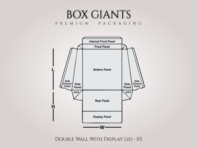 Custom Printed Double Wall With Display Lid Boxes