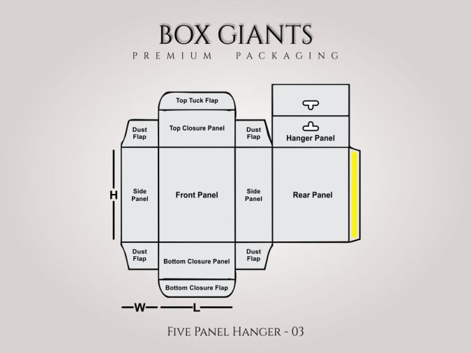 Custom Printed Five Panel Hanger Boxes