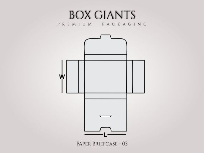 Custom Printed Paper Briefcase Boxes