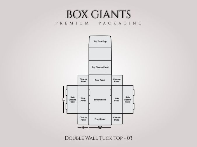 Custom Printed Double Wall Tuck Top Boxes