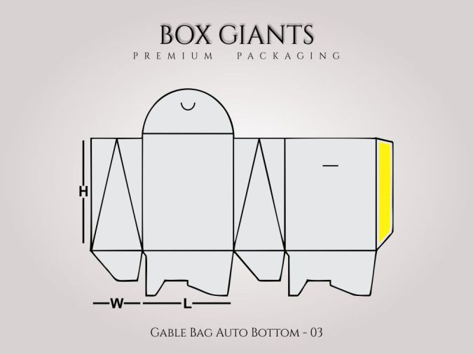 Custom Printed Gable Bag Auto Bottom