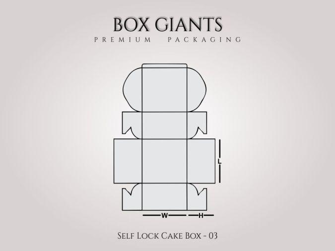 Custom Printed Self Lock Cake Boxes