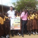 Commey and Alive and Kicking chief with pupils