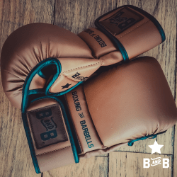 brown leather boxing gloves