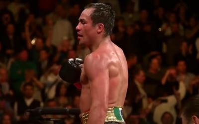 Boxing Results 2007 - Juan Manuel Marquez celebrates his win against Marco Antonio Barrera