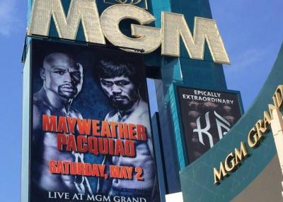 Mayweather vs Pacquiao headlining at MGM Grand Arena, Las Vegas