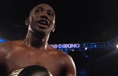 Boxing Results 2014 - Terence Crawford celebrates victory over Ricky Burns
