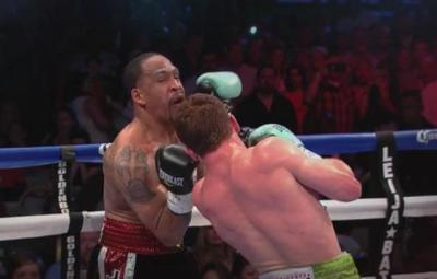 Alvarez vs Kirkland - Saul Alvarez uppercuts James Kirkland