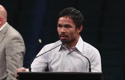 Mayweather vs Pacquiao - Manny Pacquiao at post fight press conference
