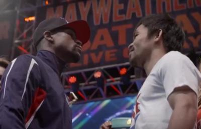 Mayweather vs Pacquiao at weigh-in