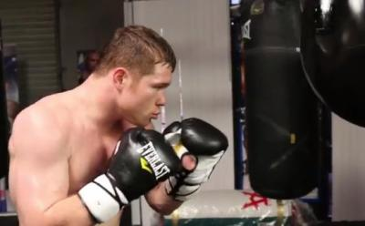 Canelo Alvarez training hard for Amir Khan on May 7th
