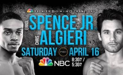 Spence vs Algieri is a headliner in this weekend's TV Boxing Schedule