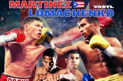Martinez vs Lomachenko boxing banner