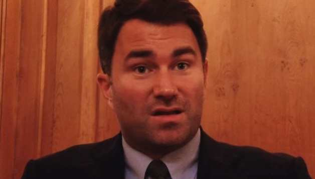 Eddie Hearn reacts