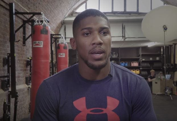 Anthony Joshua Spectacularly Messes Up Golf Demonstration