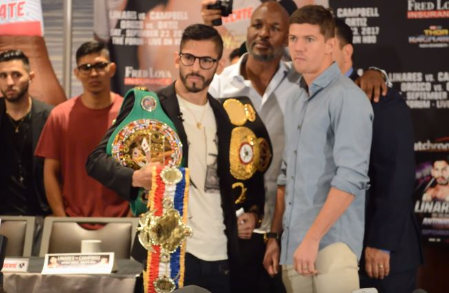 Linares vs Campbell Weigh In Results