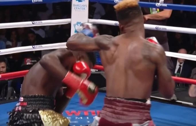 The Brutal 1st Round Right Hook KO Jermell Charlo On Lubin