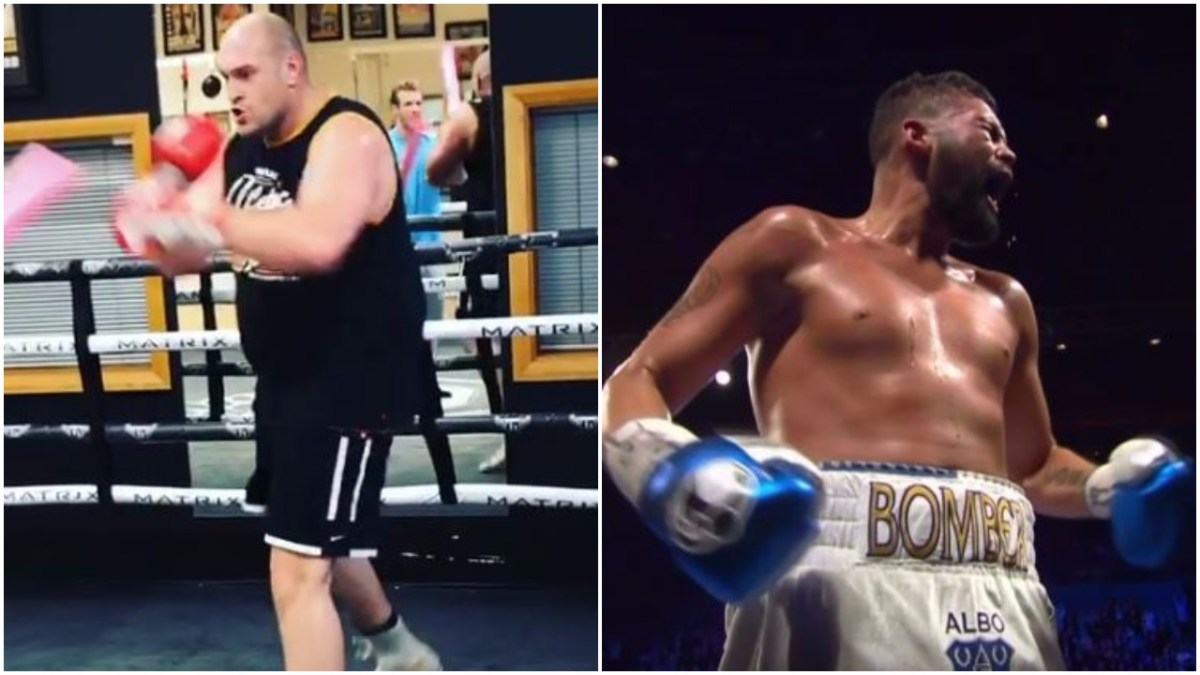 Tyson Fury Shows Sharpness On The Pads After Bellew Call Out