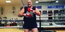 Tyson Fury shows off
