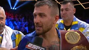 Lomachenko reacts to Rigondeaux