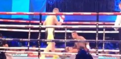 Conor Benn Knocked Down