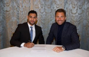 amir khan and eddie hearn