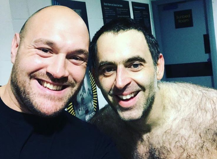 Fans Have Field Day On Pic Of Tyson Fury With Topless Ronnie O'Sullivan