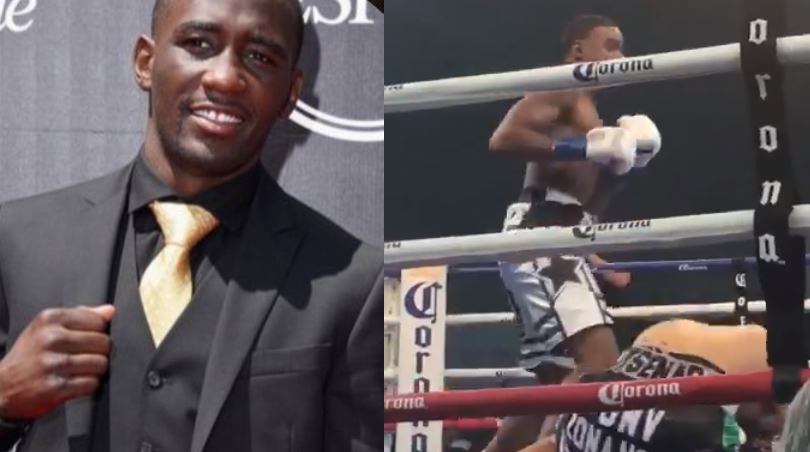 Terence Crawford's Reaction To Errol Spence KO Was Priceless