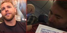 Billy Joe Saunders Trolls Eddie Hearn Hard On Flight Home From America
