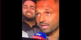 Face-Pulling Fan Photo Bombs Kell Brook Interview After Khan Fight