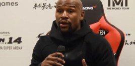 Mayweather's Response When Asked If He Trained For Tenshin Fight Is Priceless