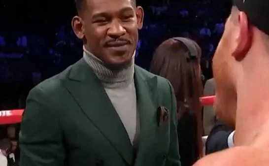The Moment Canelo Alvarez and Danny Jacobs Met In The Ring At Madison Square Garden