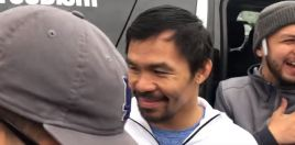 Pacquiao and Team Burst Out Laughing At Mayweather's Expense