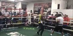 Boxer Posts Brutal Sparring Video From The Mayweather Boxing Club
